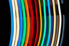 Modern Multi-colored Tubular Lamps.