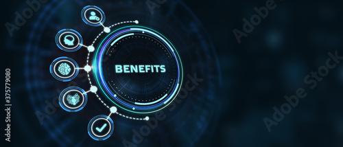Fototapeta Employee benefits help to get the best human resources