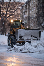 Clearing The Road From Snow