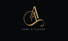 AA, A Abstract Letters Logo Monogram