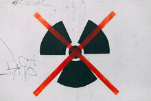 No Nuclear Power. Drawing On A Wall
