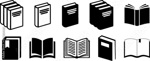 Fototapeta Book Icons Set Vectors obraz