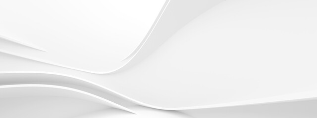 Abstract Wave Background. White Minimalistic Texture