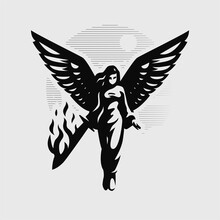 A Woman Angel With Wings