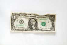 Wrinkled Dollar Bill