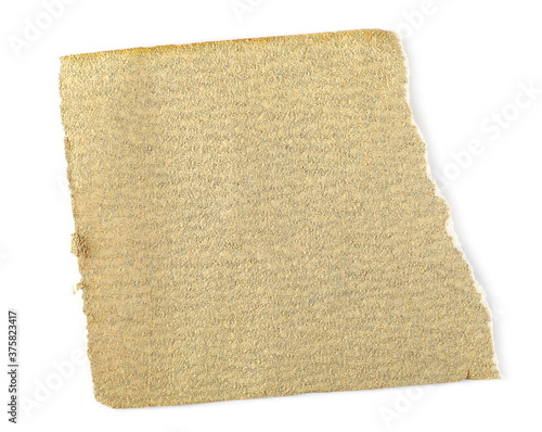 Photo Emery paper, sandpaper isolated on white background, top view