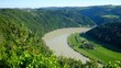 """view from viewpoint """"steiner felsen"""" to the danube river in upper austria"""