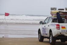 Lifeguard Truck On Beach