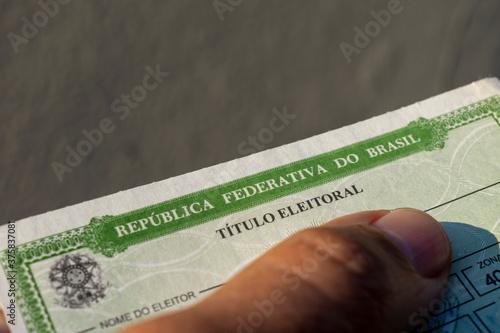 Fotografija detail of the title of Brazilian voter