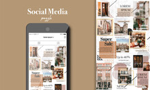 Social Media Puzzle Template P...