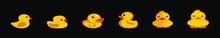 Set Of Duck Cartoon Icon Desig...