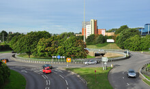 Road Junction And Roundabout, ...