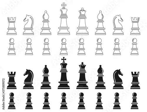 Chess pieces consisting of troops on both sides Canvas Print