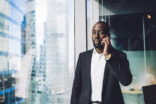 Half length portrait of confident proud CEO dressed in formal suit making consul Fototapet