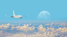 White Passenger Airplane In Th...