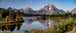 canvas print picture - grand teton national park morning in wyoming