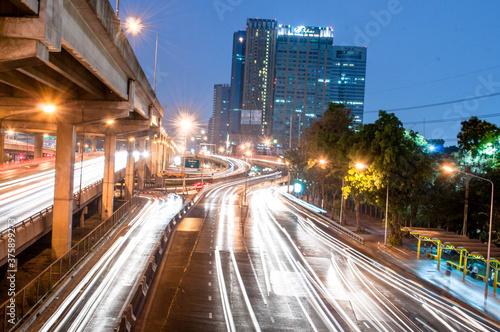 Fototapety, obrazy: traffic at night