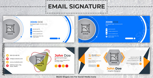 Foto Creative Corporate Email Signature Template With Author Photo Place