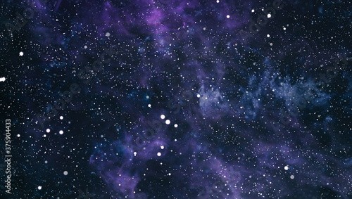 Fotografie, Obraz Blue dark night sky with many stars