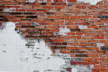 Grunge Brick Wall With Crumbli...
