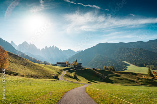 Morning View of Dolomites Mountains, Italy