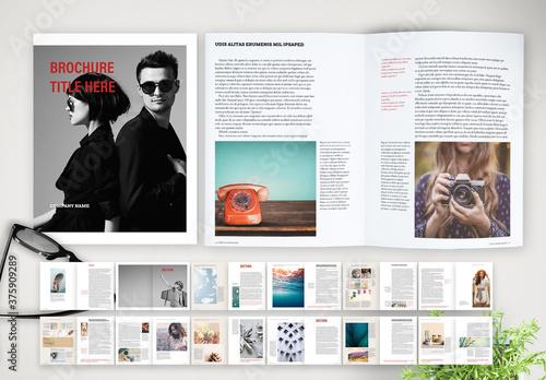 Fototapeta Minimal and Classic Brochure Layout