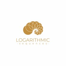 Sacred Geometry Logo Template. Logarithmic Sequences. Fibonacci Spiral Logo Design. Golden Ratio. Flower Of Life. Divine Proportion