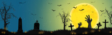 Halloween Zombie Hands In Fron...