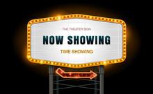 Light Sign Billboard Cinema Theater