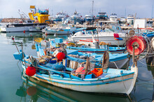 Small Greek Fishing Boats Are ...