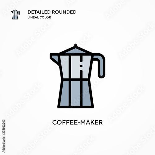 Coffee-maker vector icon Canvas-taulu