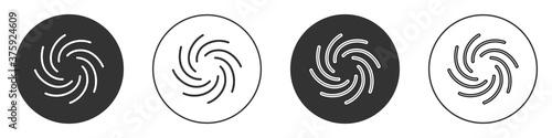 Fotografie, Obraz Black Tornado icon isolated on white background