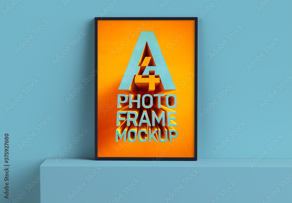 Fototapeta Realistic Photo Frame Mockup