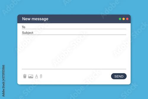 Obraz na plátne Blank email template