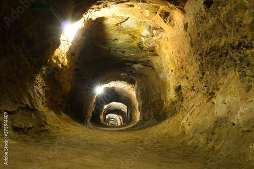 Fotografie, Obraz Bergwerk Stollen oder Mine