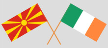 Crossed Flags Of North Macedon...