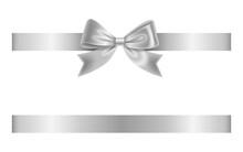 Silver Bow And Ribbon