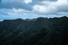 View Of The Mountain Ridges In...