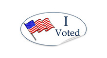 I Voted Sticker On White Backg...
