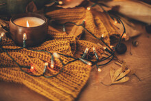 Autumn Leaves, Spices And Cand...