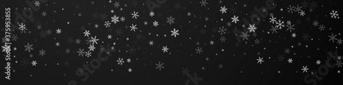 Canvastavla Sparse snowfall Christmas background. Subtle flyin