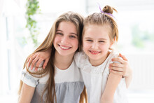 Portrait Of Cute Smiling Girls...