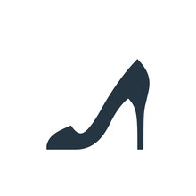 High Heels Icon. Glyph High Heels Icon For Website Design And Mobile, App Development, Print. High Heels Icon From Filled Clothes Collection Isolated On White Background..