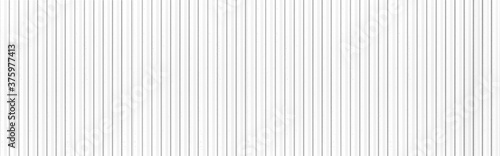 Fototapeta Panorama of White Corrugated metal background and texture surface or galvanize steel obraz