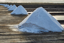 Traditional Salt Extraction Camp (Salinas) With Piles Of Extracted Salt At Sunrise - Figueira Da Foz,Portugal