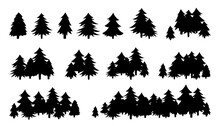 Forest Trees Textured, Black S...