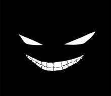 Design Of Grinning Evil Face