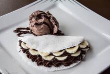 Chocolate Tapioca On A Plate