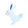 mid autumn cute rabbit jumping flat style icon
