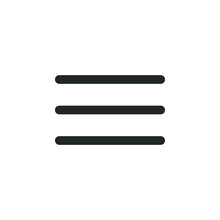 Hamburger Menu Outline Icon. S...